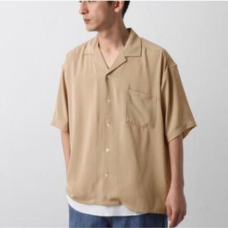 レイジブルー(RAGEBLUE)のRAGEBLUE  PEオープンカラーシャツ ベージュ Lサイズ(シャツ)
