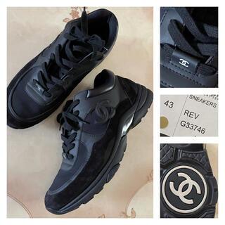 CHANEL - シャネル スニーカー 43 メンズ CHANEL ブラック 黒  正規品 靴