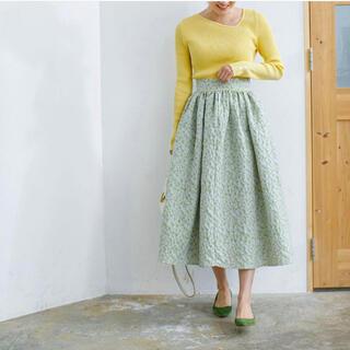 ドゥロワー(Drawer)のbluelea ブルレア フラワージャガードスカート  S(ロングスカート)
