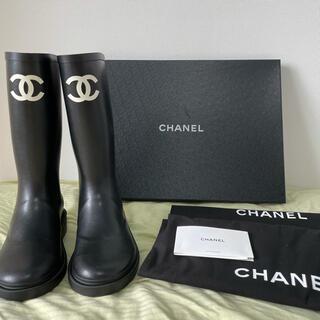 シャネル(CHANEL)の(入手困難)新作 シャネル CHANEL レインブーツ ブラック(レインブーツ/長靴)