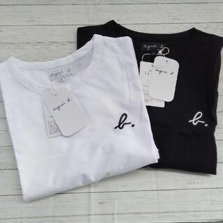 agnes b. - アニエスベー 半袖 Tシャツ 2枚セット ロゴ刺繍 即日発送 新品 シンプル