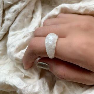 アリシアスタン(ALEXIA STAM)の【韓国アクセ❤︎】クリアリング マーブルリング ぷっくりリング(リング(指輪))
