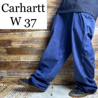 Dickies - カーハートw37ワークパンツペインターパンツ古着紺ネイビー太い太めオーバーサイズ