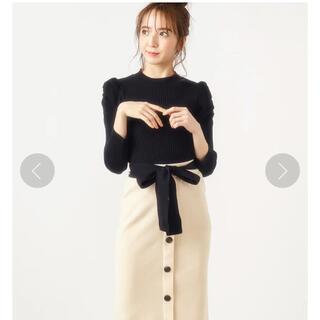 MIIA - 新品❤️MIIAパフスリーブトップス×配色リボンニットスカート