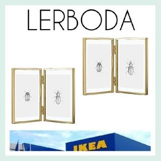 イケア(IKEA)の新品未使用【IKEA】LERBODA 写真立て フレーム 2個*おまけ付き*(フォトフレーム)