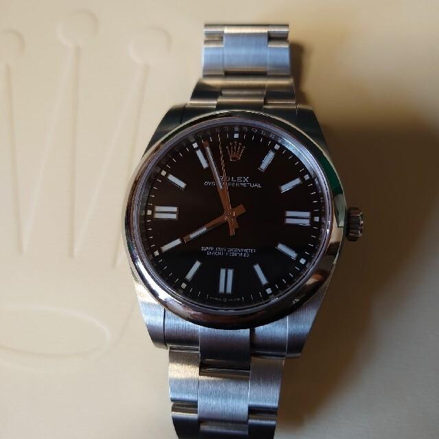 ROLEX(ロレックス)のロレックス オイスターパーペチュアル 124300 41mm 黒文字盤 メンズの時計(腕時計(アナログ))の商品写真