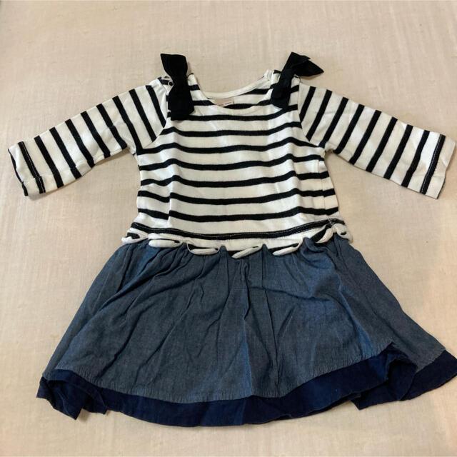 petit main(プティマイン)のプティマイン ワンピースロンパース 80 キッズ/ベビー/マタニティのベビー服(~85cm)(ロンパース)の商品写真