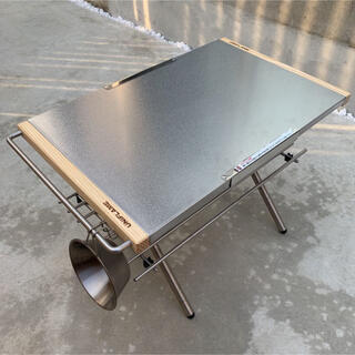 バンド付【新品未使用】ユニフレーム 焚き火テーブル用 ステンレスラック