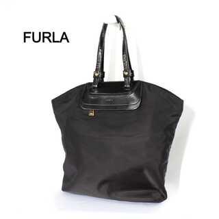フルラ(Furla)のフルラ★A4対応 ナイロン エナメル トートバッグ ブラック 大容量(トートバッグ)