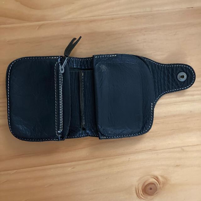 REDMOON(レッドムーン)のレッドムーン 二つ折り 折り畳み 折り財布 財布 ウォレット レザー  メンズのファッション小物(折り財布)の商品写真