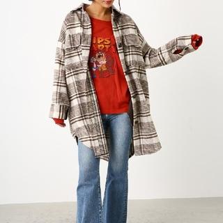 ロデオクラウンズワイドボウル(RODEO CROWNS WIDE BOWL)のロデオクラウンズ オーバーシルエットビッグチェックシャツ(シャツ/ブラウス(長袖/七分))