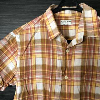 グローバルワーク(GLOBAL WORK)のGLOBAL WORKチェックシャツ 半袖シャツ 麻15%綿85%(シャツ)