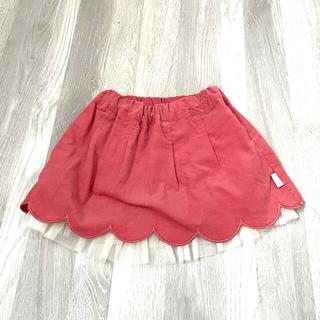 キムラタン(キムラタン)のほぼ未使用品 キムラタン 秋冬 コーデュロイフリルスカート 80cm(スカート)