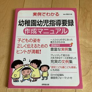 【美品】実例でわかる 幼稚園幼児指導要録作成マニュアル(専門誌)