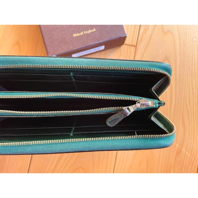 WHITEHOUSE COX(ホワイトハウスコックス)のWhitehouse cox 長財布 ラウンドジップ グリーン  メンズのファッション小物(長財布)の商品写真