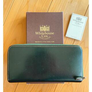 WHITEHOUSE COX - Whitehouse cox 長財布 ラウンドジップ グリーン