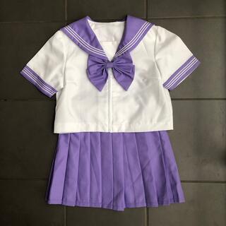 ボディライン(BODYLINE)の紫 セーラー服 コスプレ 仮装(衣装一式)
