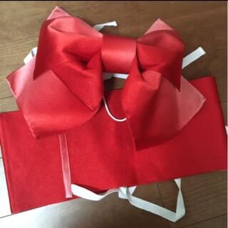 浴衣用作り帯 結び帯*赤グラデーション