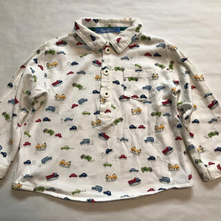 familiar - familiar ファミリア 90cm 長袖シャツ ポロシャツ カットソー 白