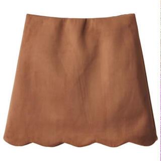 グレイル(GRL)の新品 GRL スカラップスエードスカート(ミニスカート)