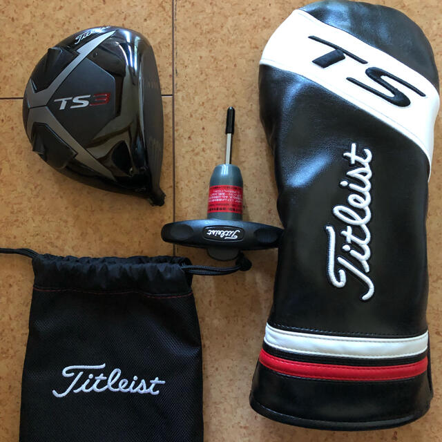 Titleist(タイトリスト)のタイトリストドライバーTS3 10.5度 ヘッドのみ 美品❗️ スポーツ/アウトドアのゴルフ(クラブ)の商品写真