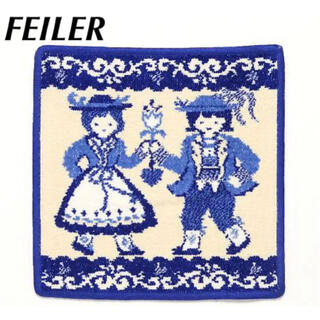 FEILER - FEILER フェイラー タオル ハンカチ トラハテン ドイツ 民族衣装 ブルー
