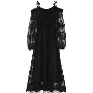 Lily Brown - リリーブラウン 刺繍レースドレス