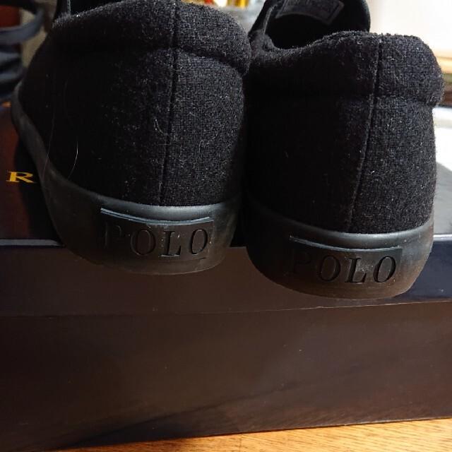 POLO RALPH LAUREN(ポロラルフローレン)のポロ ラルフローレン *スリッポン ◎ブラック 24.5 レディースの靴/シューズ(スリッポン/モカシン)の商品写真