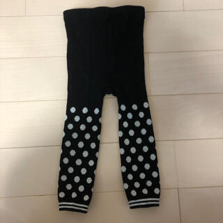 ユニクロ(UNIQLO)のユニクロ タイツ 子供 新品未使用 黒 水玉 ドット 90(靴下/タイツ)