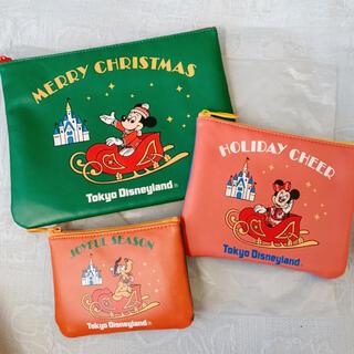 Disney - ディズニーランド ポーチ クリスマス 新品