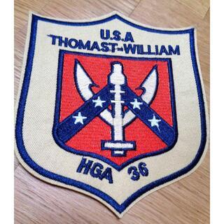 新品アメリカ軍US米軍THOMAST WILLIAM HGA 36 刺繍ワッペン(その他)