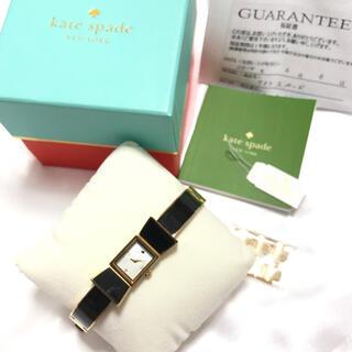 kate spade new york - kate spade リボン 腕時計 ブレスレットウォッチ ブラックゴールド