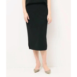 ドゥーズィエムクラス(DEUXIEME CLASSE)の新品 ドゥーズィエムクラス  トリアセジョーゼット ペンシル スカート  38(ひざ丈スカート)