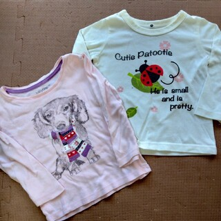 ベビーギャップ(babyGAP)の90.95 長袖Tシャツ 2枚(Tシャツ/カットソー)