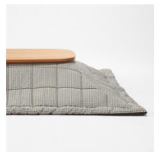 MUJI (無印良品) - 無印良品  綿平織こたつふとん・正方形/ブラウンチェック 195×195cm
