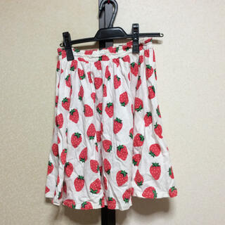 キャンディーストリッパー(Candy Stripper)のイチゴ柄スカート♡(ひざ丈スカート)