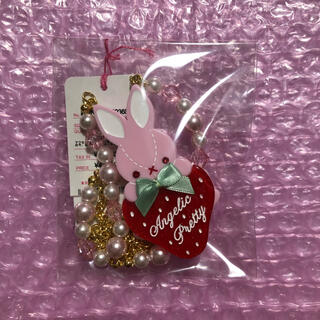 Angelic Pretty - little  bunny strawberry  ネックレス ピンク