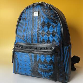 エムシーエム(MCM)のMCM 極美品 限定 リュック 黒 青 ユニセックス ヴィセトス バックパック(リュック/バックパック)