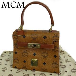エムシーエム(MCM)のMCM ヴィンテージ ロゴグラム レザー ハンドバッグ 保存袋付き(ハンドバッグ)