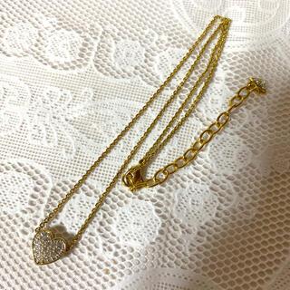 スワロフスキー(SWAROVSKI)のスワロフスキー ネックレス ゴールドカラー ハート(ネックレス)