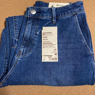ムジルシリョウヒン(MUJI (無印良品))の無印良品 縦横ストレッチデニム ワイドパンツ ブルーMサイズ(デニム/ジーンズ)