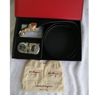 Salvatore Ferragamo - 未使用品サルヴァトーレフェラガモ  メンズ レザーベルト 箱付き