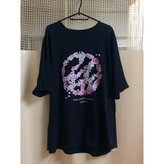 24karats - 24Karats桜柄Tシャツ  XXL