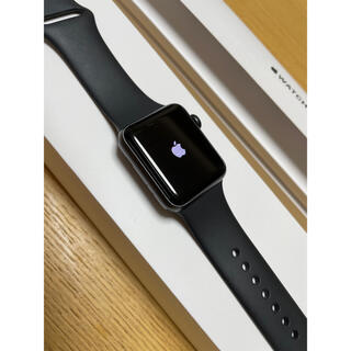 Apple Watch - Apple Watch 3 38mm スペースグレー gpsモデル