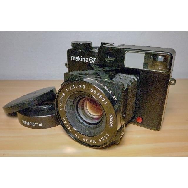PLAUBEL makina67 + kenko MC SKYLIGHT 1B  スマホ/家電/カメラのカメラ(フィルムカメラ)の商品写真