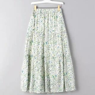 ユナイテッドアローズ(UNITED ARROWS)のsacra  サクラ drawing print skirt (ロングスカート)