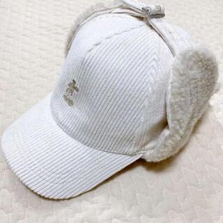 ディズニー(Disney)の《完売品》ディズニーリゾート コーデュロイ キャップ 帽子 白 フライトキャップ(キャップ)