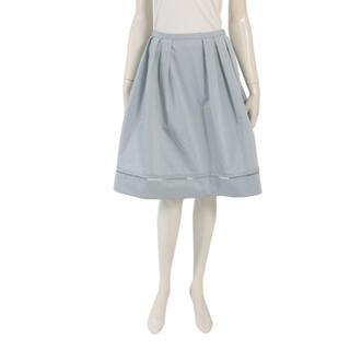 フォクシー(FOXEY)のフォクシー  ストレッチグログラン スカート 40 ブラック(ひざ丈スカート)