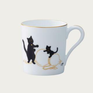 大倉陶園 - ★未使用新品★ 【大倉陶園】黒猫親子マグカップ