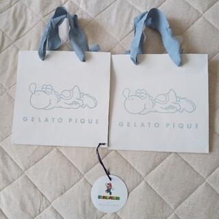 ジェラートピケ(gelato pique)のジェラートピケ マリオ ショップ袋2つセット ジェラピケ(ショップ袋)